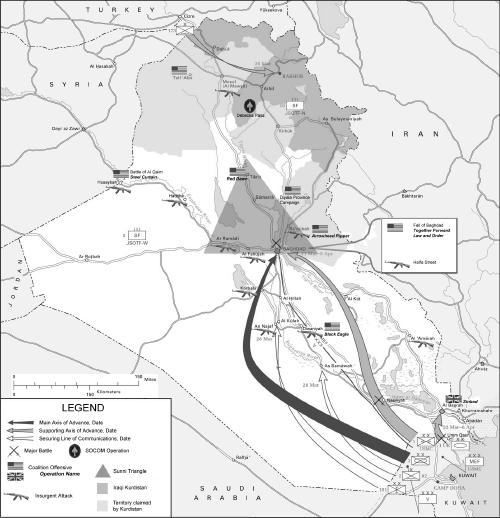 Map Of Iraq War. The Persian Gulf War,